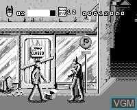 In-game screen of the game Batman & Robin on Tiger Game.com