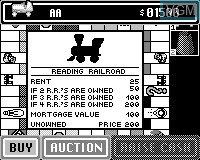 In-game screen of the game Monopoly on Tiger Game.com