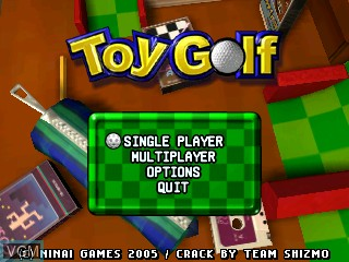 Title screen of the game Toy Golf on Tiger Gizmondo