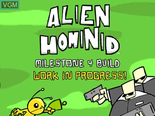 Title screen of the game Alien Hominid on Tiger Gizmondo