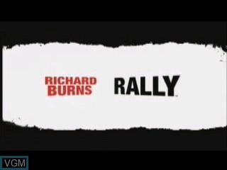 Title screen of the game Richard Burns Rally on Tiger Gizmondo
