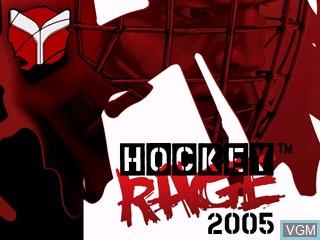 Title screen of the game Hockey Rage 2005 on Tiger Gizmondo