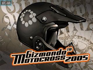 Title screen of the game Gizmondo Motocross 2005 on Tiger Gizmondo