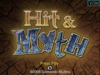Title screen of the game Hit & Myth on Tiger Gizmondo