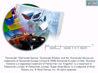 Title screen of the game Fathammer Classics Pack on Tiger Gizmondo