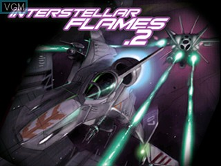 Title screen of the game Interstellar Flames 2 on Tiger Gizmondo