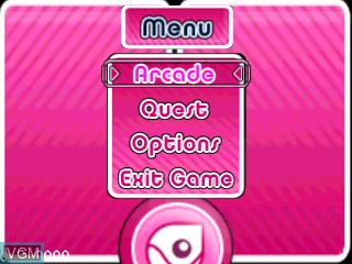 Menu screen of the game Ball Busters on Tiger Gizmondo