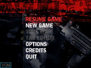 Menu screen of the game Colors on Tiger Gizmondo
