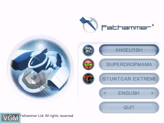 Menu screen of the game Fathammer Classics Pack on Tiger Gizmondo