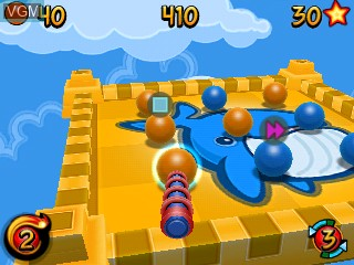 In-game screen of the game Sticky Balls on Tiger Gizmondo