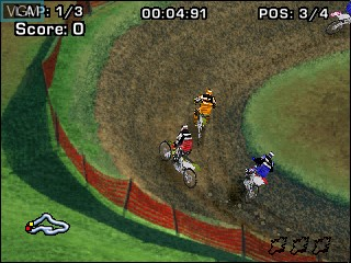 In-game screen of the game Gizmondo Motocross 2005 on Tiger Gizmondo