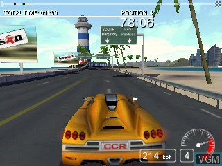In-game screen of the game Chicane on Tiger Gizmondo