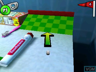 In-game screen of the game Toy Golf on Tiger Gizmondo