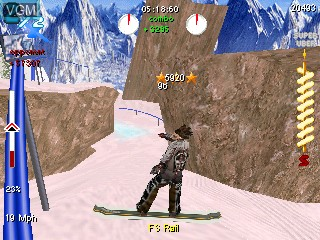 In-game screen of the game SSX 3 on Tiger Gizmondo