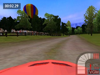 In-game screen of the game Richard Burns Rally on Tiger Gizmondo