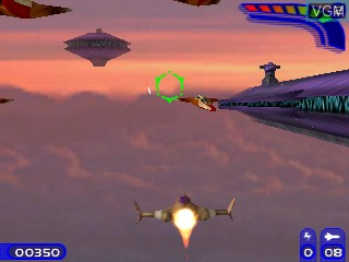 In-game screen of the game Interstellar Flames 2 on Tiger Gizmondo