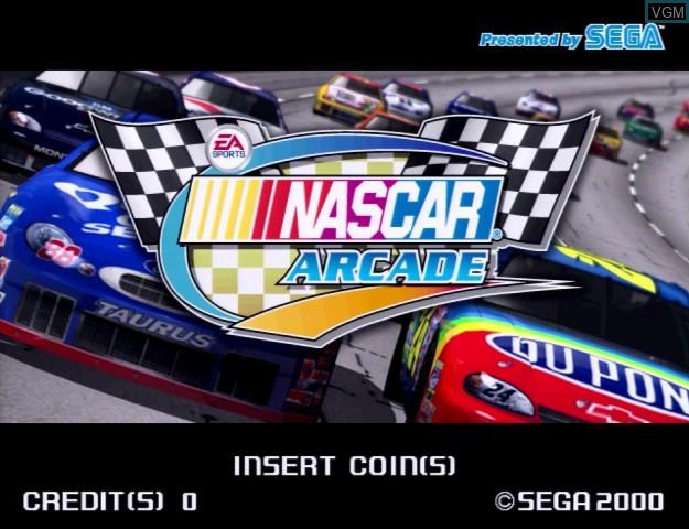 Title screen of the game Nascar Racing on Sega Hikaru
