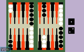 In-game screen of the game ABPA Backgammon on Mattel Intellivision