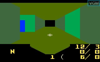 In-game screen of the game Advanced D&D - Treasure of Tarmin on Mattel Intellivision