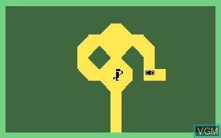 In-game screen of the game Adventure on Mattel Intellivision
