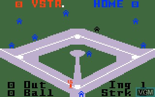 In-game screen of the game Baseball on Mattel Intellivision