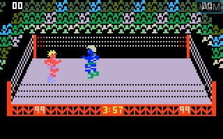 In-game screen of the game Body Slam - Super Pro Wrestling on Mattel Intellivision