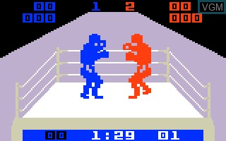 In-game screen of the game Boxing on Mattel Intellivision