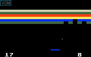 In-game screen of the game Brickout! on Mattel Intellivision