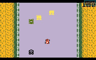 In-game screen of the game Bump 'N' Jump on Mattel Intellivision