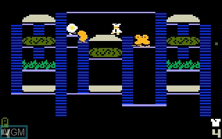 In-game screen of the game BurgerTime! on Mattel Intellivision