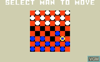 In-game screen of the game Checkers on Mattel Intellivision