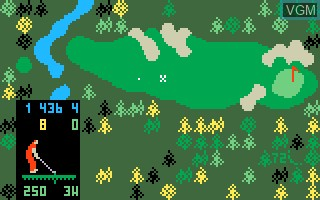 In-game screen of the game Chip Shot - Super Pro Golf on Mattel Intellivision