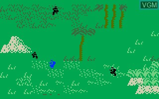In-game screen of the game Commando on Mattel Intellivision