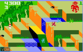 In-game screen of the game Congo Bongo on Mattel Intellivision