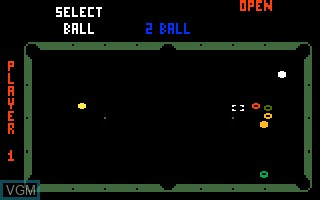 In-game screen of the game Deep Pockets-Super Pro Pool and Billiards on Mattel Intellivision