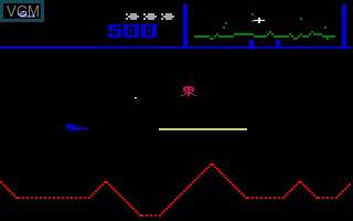 In-game screen of the game Defender on Mattel Intellivision
