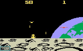 In-game screen of the game Demon Attack on Mattel Intellivision