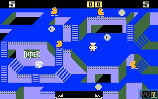 In-game screen of the game Diner on Mattel Intellivision