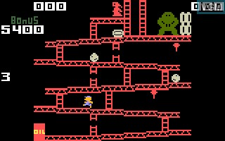 In-game screen of the game Donkey Kong on Mattel Intellivision