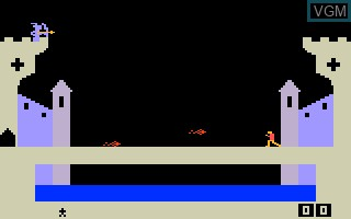 In-game screen of the game Dragonfire on Mattel Intellivision