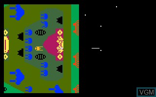 In-game screen of the game Dreadnaught Factor, The on Mattel Intellivision