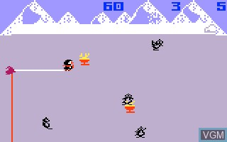In-game screen of the game Duncan's Thin Ice on Mattel Intellivision