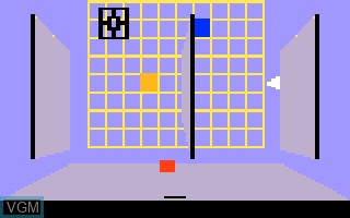 In-game screen of the game Grid Shock on Mattel Intellivision