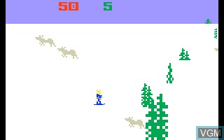 In-game screen of the game Ice Trek on Mattel Intellivision