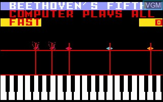 In-game screen of the game Melody Blaster on Mattel Intellivision
