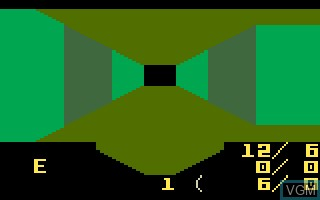 In-game screen of the game Minotaur on Mattel Intellivision