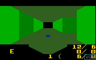 In-game screen of the game Minotaur V2 on Mattel Intellivision