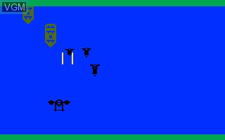 In-game screen of the game Mission X on Mattel Intellivision