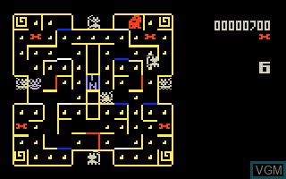 In-game screen of the game Mouse Trap on Mattel Intellivision