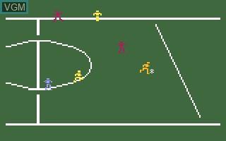 In-game screen of the game NASL Soccer on Mattel Intellivision